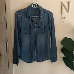 Nordstrom / Halogen Chambray Button Front Shirt